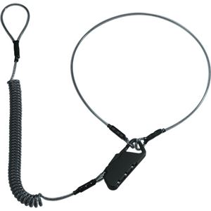 コクヨ モバイルロックキット コイル式ワイヤー採用 3桁ダイヤル式 黒 KK-M1D 1本 【×2セット】 h01