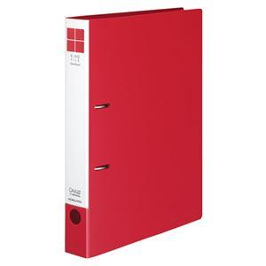 (まとめ)コクヨリングファイル(スリムスタイル)A4タテ2穴330枚収容背幅42mm赤フ-URF440R1冊【×10セット】