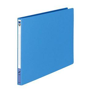 (まとめ)コクヨレターファイル(色厚板紙)B4ヨコ120枚収容背幅20mm青フ-559B1冊【×10セット】