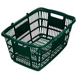 (まとめ) スーパーメイト ショッピングバスケット 33L ダークグリーン CB-33EGG 1個 【×5セット】