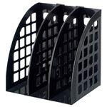 (まとめ) スガタ ファイルボックス A4 ブラック FBXBK 1セット(3個) 【×5セット】