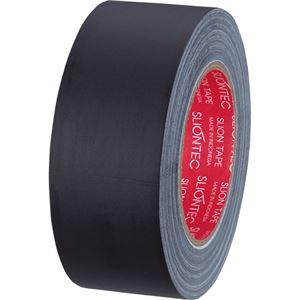 (まとめ)スリオンテック布粘着テープマットクロス50mm×25m黒334542クロ1巻【×5セット】