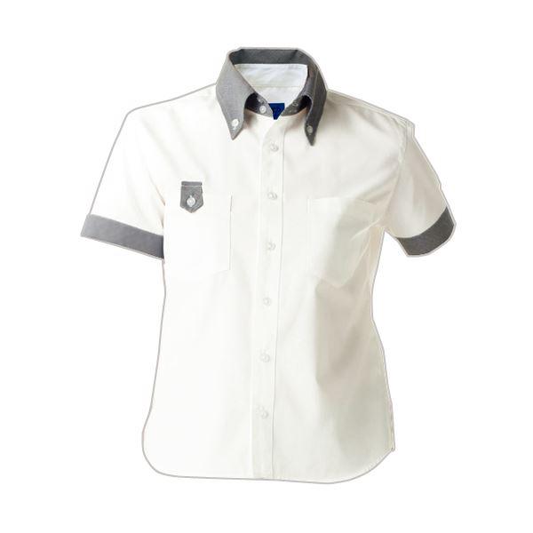 (まとめ) セロリー 半袖シャツ(ユニセックス) Lサイズ ホワイト S-63408-L 1枚 【×2セット】f00