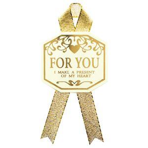 (まとめ) タカ印 ギフトシール For You タテ33×ヨコ36mm 22-912 1パック(16片:4片×4シート) 【×10セット】