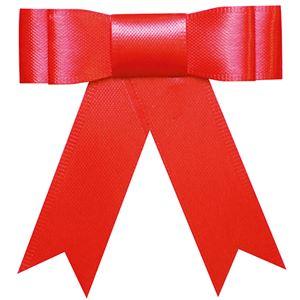 (まとめ) タカ印 プレーンタイリボン 赤 業務用 35-6865 1パック(50個) 【×3セット】