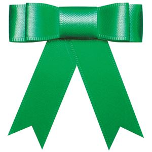 (まとめ) タカ印 プレーンタイリボン 緑 業務用 35-6866 1パック(50個) 【×3セット】
