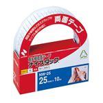 (まとめ) ニチバン ナイスタック 再生紙両面テープ 大巻 25mm×10m NW-25 1巻 【×15セット】