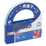 (まとめ) ニチバン ナイスタック 両面テープ 強力タイプ 大巻 10mm×18m NW-K10 1巻 【×20セット】