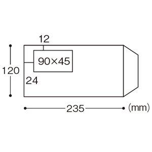 (まとめ) ハート レーザープリンター対応グラシン窓付封筒 クオリス 長3 ホワイト 裏地紋入 MR1128 1パック(200枚) 【×2セット】