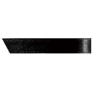 (まとめ) ヘッズ 片面サテンリボン 幅10mm×30m ブラック 1090R 1巻 【×15セット】