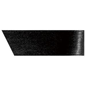 (まとめ) ヘッズ 片面サテンリボン 幅19mm×20m ブラック 1990R 1巻 【×10セット】