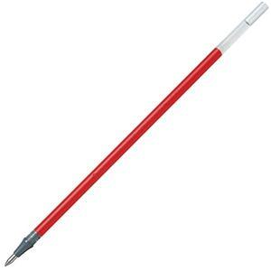 (まとめ) ぺんてる ゲルインクボールペン替芯 0.5mm 赤 ハイブリッドキャップ式用 XKFLS5-B 1セット(10本) 【×10セット】