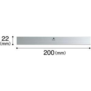 (まとめ) マグエックス マグネットバー シルバータイプ W200×H22×D4.3mm MOAB-200 1本 【×15セット】