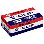 (まとめ) ミツヤ テトンボ Vクリップ 大 29mm ゴールド V-501 1箱(約500本) 【×10セット】