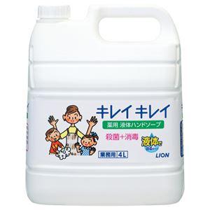 (まとめ) ライオン キレイキレイ 薬用ハンドソープ 業務用 4L 1個 【×2セット】