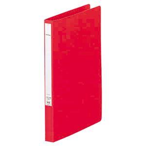 (まとめ) リヒトラブ パンチレスファイル(HEAVY DUTY) A4タテ 160枚収容 背幅25mm 赤 F-367-1 1冊 【×10セット】