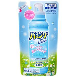 (まとめ)花王ハミングNeoホワイトフローラルの香りつめかえ用320ml1個【×15セット】