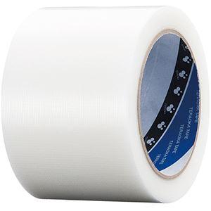 (まとめ)寺岡製作所養生用P-カットテープ75mm×25m透明No.4140トウメイ751巻【×10セット】