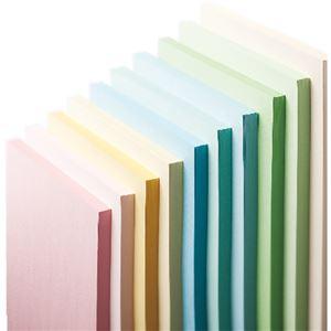 (まとめ) 長門屋商店 Color Paper A4 中厚口 アイボリー ナ-3215 1冊(100枚) 【×10セット】