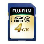 (まとめ) 富士フィルム FUJI SDHCカード 4GB Class10 SDHC-004G-C10 1枚 【×2セット】