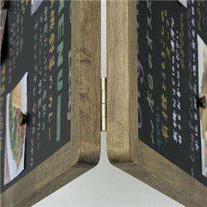 レイメイ藤井アンティークA型ブラックボード ホワイト仕上げ Lサイズ W500×D750×H1105mm LNB1181枚