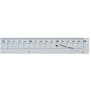 (まとめ) クツワ アルミ定規 30cm シルバーXS30SV 1個 【×10セット】