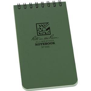 (まとめ) ライトインザレイン トップスパイラルノートブック ユニバーサル グリーン 935 1冊 【×5セット】