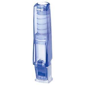 (まとめ) 三菱鉛筆ワンタッチ式印鑑ホルダー「はん蔵」 透明青 HLD502T.33 1個 【×10セット】