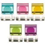 (まとめ) トーキンマグネット付スライドクリップ(クリア) L 5色ミックス SCC-LMG10M 1パック(10個:各色2個) 【×5セット】