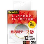 (まとめ) 3M スコッチ 超透明テープS 600小巻 12mm×35m 600-1-12CN 1個 【×30セット】