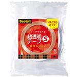 (まとめ) 3M スコッチ 超透明テープS18mm×20m トライアルパック BS-1820-1P 1巻 【×30セット】