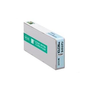 (まとめ)エコリカリサイクルインクカートリッジ[エプソン:ICLC35互換]ECI-E35LC1個【×5セット】