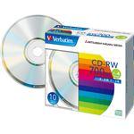 (まとめ)バーベイタム データ用CD-RW700MB 4倍速 ブランドシルバー 5mmスリムケース SW80QU10V1 1パック(10枚) 【×5セット】
