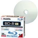 (まとめ)RiDATA 録画用BD-R 130分1-4倍速 ホワイトワイドプリンタブル 5mmスリムケース BD-R130PW 4X.10P SC C1パック(10枚) 【×3セット】