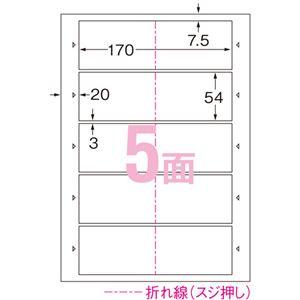 (まとめ)エーワンマルチカードショップ・ポイントカード用各種プリンタ兼用紙 両面クリアエッジ A4 5面 ヨコ2つ折り 516621冊(10シート) 【×10セット】
