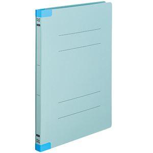 (まとめ)TANOSEEフラットファイル(背補強タイプ)A4タテ150枚収容背幅18mmブルー1パック(10冊)【×10セット】