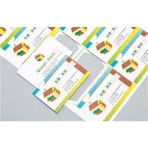(まとめ)エーワン マルチカード各種プリンタ兼用紙 両面クリアエッジタイプ 白無地 標準 A4判フチまで印刷10面 名刺サイズ 516711冊(10シート) 【×10セット】