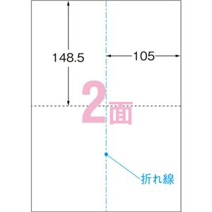 (まとめ)エーワンパソコンで手作りプリントペーパー A4判 2ツ折ポストカード 1/2サイズ 2面 白無地 515571冊(10シート) 【×10セット】