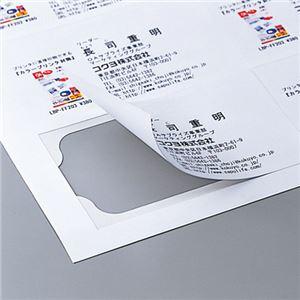 (まとめ)コクヨカラーレーザー&カラーコピー用名刺カード クリアカット 両面印刷用 A4 10面 LBP-VC101冊(10シート) 【×10セット】