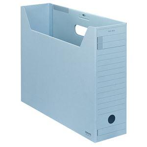 (まとめ)コクヨファイルボックス-FS(Fタイプ) B4ヨコ 背幅102mm 青 フタ付 B4-LFFN-B 1セット(5冊) 【×3セット】