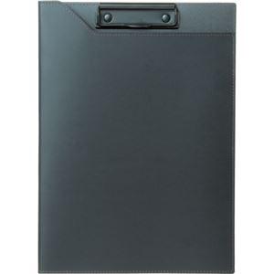 (まとめ)プロッシモ リサイクルレザークリップファイル A4 ブラック PRORCFA4BK 1冊 【×3セット】