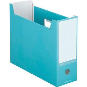 (まとめ)コクヨ ファイルボックス(NEOS)A4ヨコ 背幅102mm ターコイズブルー A4-NELF-B 1セット(10冊) 【×3セット】