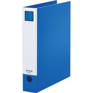 (まとめ)キングジムレバーリングファイルA4タテ2穴380枚収容背幅55mm青6674アオ1冊【×5セット】