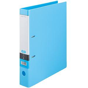 (まとめ)TANOSEE DリングファイルA4タテ 2穴 350枚収容 背幅53mm ライトブルー 1セット(10冊) 【×2セット】