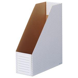TANOSEEボックスファイル(ホワイト) A4タテ 背幅100mm ブルー 1セット(50冊:10冊×5パック)