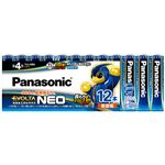 (まとめ)パナソニック アルカリ乾電池EVOLTAネオ 単4形 LR03NJ/12SW 1パック(12本)【×3セット】
