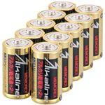 (まとめ)メモレックス・テレックス アルカリ乾電池単2形 LR14/1.5V/10S 1パック(10本)【×5セット】