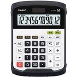 カシオ 防水・防塵電卓 12桁デスクサイズ WD-320MT-N 1台