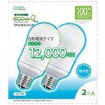 (まとめ)オーム電機 電球形蛍光灯 エコ電球 A形100形 E26 昼光色 EFA25ED/18-2P 1パック(2個)【×3セット】