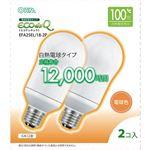 (まとめ)オーム電機 電球形蛍光灯 エコ電球 A形100形 E26 電球色 EFA25EL/18-2P 1パック(2個)【×3セット】
